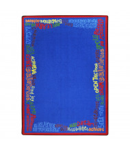 Joy Carpets Read Believe & Achieve Rectangle Classroom Rug