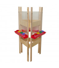 Wood Designs 3-Sided Acrylic Easel (Shown in Red)