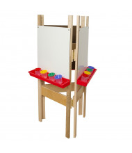 Wood Designs 3-Sided Markerboard Easel (Shown in Red)