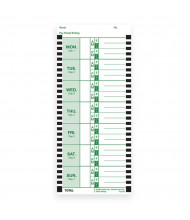 Lathem Weekly Time Cards for 2100HD & 800P (100 Pieces)