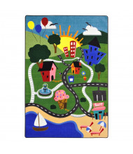 Joy Carpets Happy Town Rectangle Classroom Rug