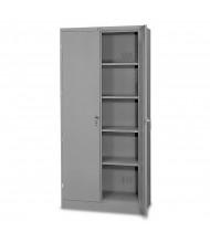 "Tennsco 36"" W x 78"" H Deluxe Storage Cabinets (shown in medium grey, standard handle)"