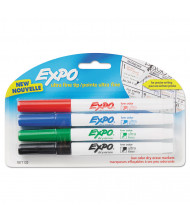 Expo Low-Odor Dry Erase Marker, Ultra Fine Point, Assorted, 4-Pack
