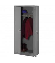 Tennsco Deluxe Wardrobe Cabinets (shown in medium grey)