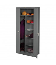 Tennsco Deluxe Combination Wardrobe and Storage Cabinets (shown in medium grey)