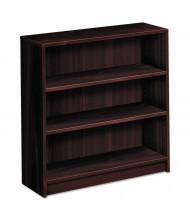 HON 1872N 3-Shelf Square Edge Laminate Bookcase in Mahogany Finish