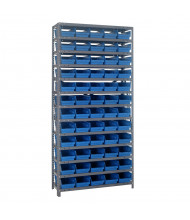 "Quantum Storage 18"" D Steel Shelving Unit with 4"" H Bins"