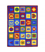 Joy Carpets Lots to Learn Rectangle Classroom Rug