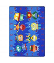 Joy Carpets Alphabet Bots Rectangle Classroom Rug