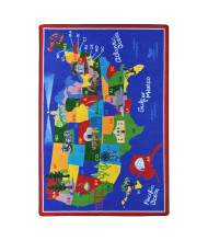 Joy Carpets America the Beautiful Rectangle Classroom Rug