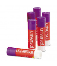 Universal .28 oz Permanent Glue Sticks, Purple, 12/Pack