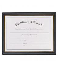 "NuDell Economy 8-1/2"" W X 11"" H Award Certificate Frame, Gold/Black"