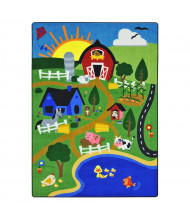 Joy Carpets Happy Farm Rectangle Classroom Rug