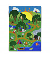Joy Carpets Happy Forest Rectangle Classroom Rug