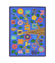 Joy Carpets Alphabet Leaves Rectangle Classroom Rug, Soft