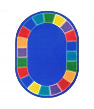 Joy Carpets Color Tones Classroom Rug (Shown in Oval)