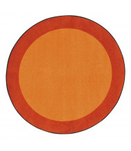 Joy Carpets All Around Classroom Rug, Orange (Shown in Round)