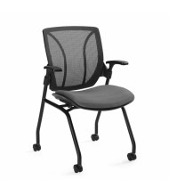 Global Roma 1899 Mesh Back Fabric Mid-Back Nesting Guest Chair