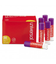 Universal .28 oz Permanent Glue Sticks, Purple, 30/Pack