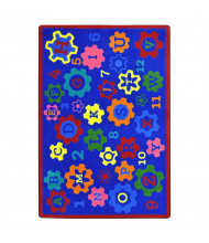 Joy Carpets Geared for Learning Rectangle Classroom Rug