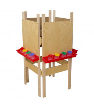 Wood Designs 4-Sided Plywood Easel (Shown in Red)