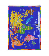 Joy Carpets World of Wonders Rectangle Classroom Rug