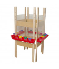 Wood Designs 4-Sided Acrylic Easel (Shown in Red)