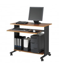 "Safco Muv 1921 35.5"" W Steel Computer Desk (Shown in Cherry, Example of Use)"