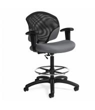 Global Tye 1922-6 Mesh Vinyl Low-Back Drafting Task Chair