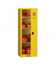 Eagle 2310 Self Close One Door Flammable Safety Cabinet, 24 Gallons, Yellow