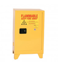 Eagle 1924LEGS Self Close One Door Flammable Tower Safety Cabinet with Legs, 12 Gallons, Yellow