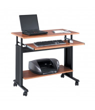 "Safco Muv 1926 35.5"" W Adjustable Steel Computer Desk (Shown in Cherry, Example of Use)"