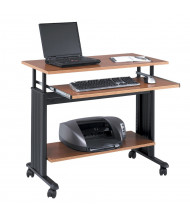 """Safco Muv 1926 35.5"""" W Adjustable Steel Computer Desk (Shown in Oak, Example of Use)"""