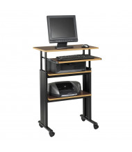 "Safco Muv 1929 29.5"" W Adjustable Steel Computer Desk (Shown in Cherry)"