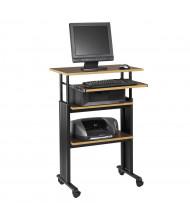 "Safco Muv 1929 29.5"" W Adjustable Steel Computer Desk (Shown in Cherry)"