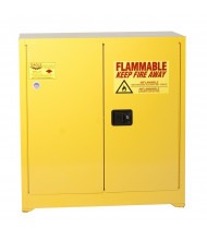Eagle 1932 Manual Two Door Flammable Safety Cabinet, 30 Gallons, Yellow