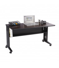 "Safco 1933 53.5"" W Reversible Top Steel Computer Desk (Shown in Reversible Mahogany)"