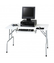 "Safco 1935GR 47.5"" W x 29.75"" D Folding Computer Table, Light Gray"