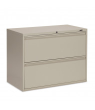 "Global 1942P-2F12 2-Drawer 42"" Wide Lateral File Cabinet, Letter & Legal (Shown in Desert Putty)"