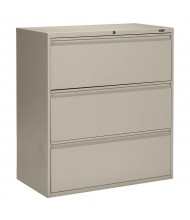 """Global 1942P-3F12 3-Drawer 42"""" Wide Lateral File Cabinet, Letter & Legal (Shown in Desert Putty)"""