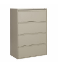 "Global 1942P-4F12 4-Drawer 42"" Wide Lateral File Cabinet, Letter & Legal (Shown in Desert Putty)"