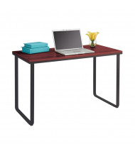 "Safco 1943 47.25"" W Steel Computer Desk (Shown in Cherry/Black)"