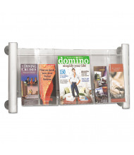 "Safco Luxe 15"" H 3-Compartment Magazine Rack"