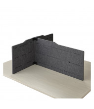 Safco Hideout T-Shape Desk Privacy Panel (Shown in Grey)