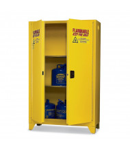 Eagle 1947LEGS Manual Two Door Flammable Tower Safety Cabinet with Legs, 45 Gallons, Yellow