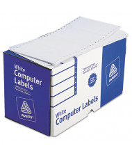 "Avery 5"" x 2-15/16"" Dot Matrix Printer Shipping Labels, White, 3000/Box"