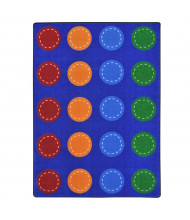 """Joy Carpets Spaces and Places Rectangle Classroom Rug (Shown in 5' 4"""" x 7' 8"""")"""