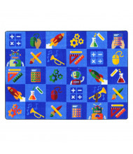 Joy Carpets STEM into Learning Rectangle Classroom Rug