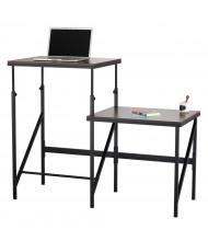 Safco Elevate Bi-Level Height Adjustable Desk (Shown in Walnut)