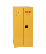 Eagle YPI-62 Manual Two Door Close Combustibles Safety Cabinet, 96 Gallons, Yellow